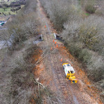 Vegetation clearance on the mothballed railway in Buckinghamshire March 2015